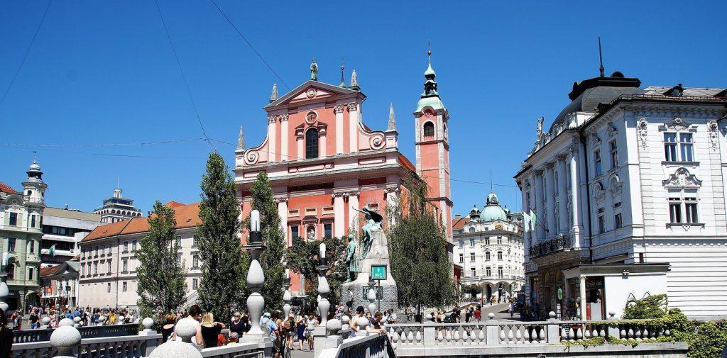 Zabytkowa starówka Lublany